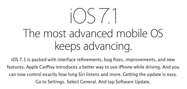 【今日看点】iOS 7.1 更新梳理:未来的 CarPlay 以及新进声优 Siri