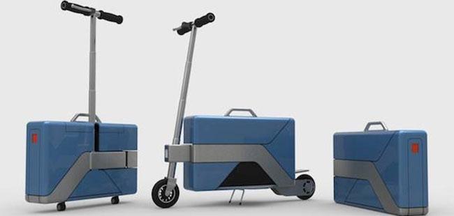 变形金刚公文包 让你3秒钟拥有电动自行车