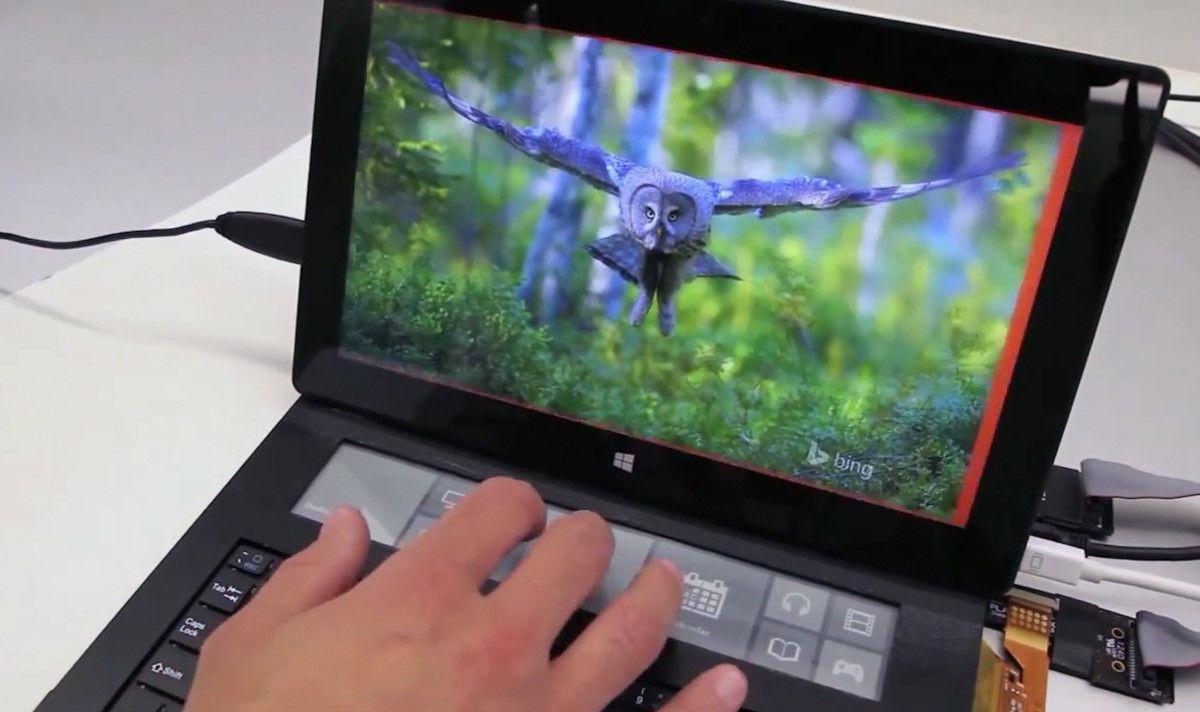 微软的最新硬件,竟然是一款带 e-ink 屏幕的键盘