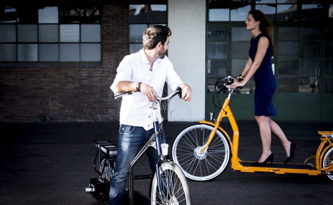 共享单车这么火,可你见过这种走走路就能向前的吗?