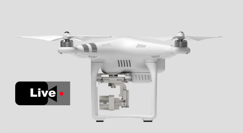 如果无人机也玩直播,你打算用它拍点什么?