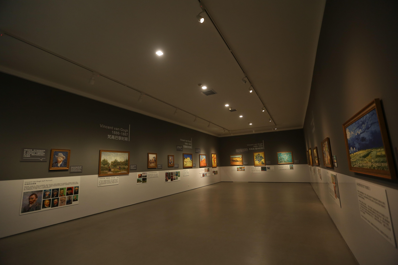 豌豆荚携手荷兰梵高博物馆,发布会现场举办画展.JPG