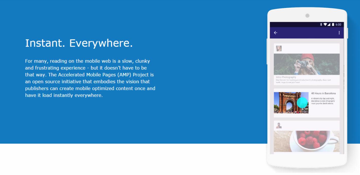 Google推出新技术AMP,除了让手机上网更快,还能多卖广告