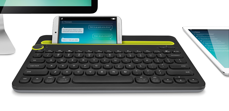 同时搞定电脑、平板和手机的蓝牙键盘:K480