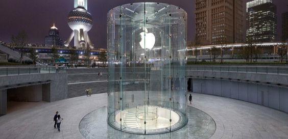 上海苹果店玻璃圆柱入口获得设计专利 | 极客早知道2015年6月17日