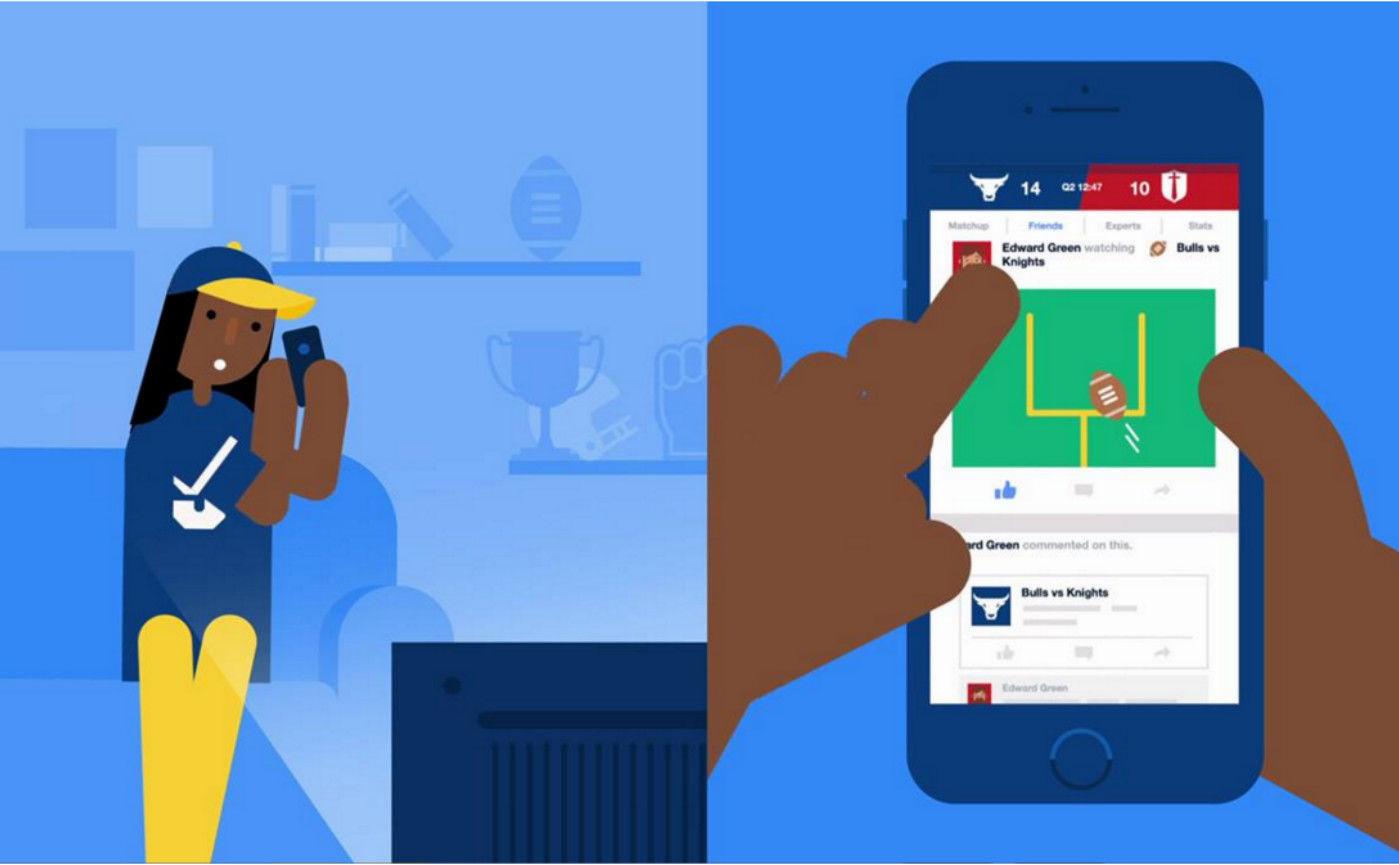 Facebook 开了个虚拟「体育场」,主要功能是聊比赛