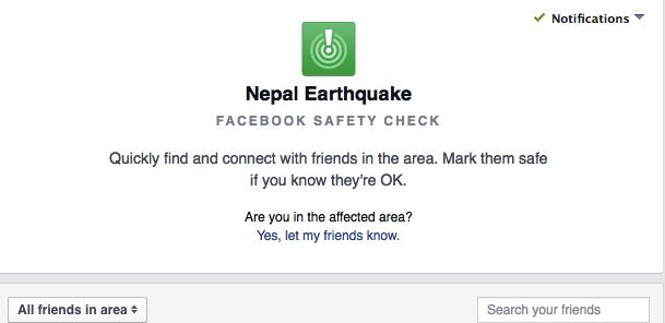 用 Google 和 Facebook 的服务来确认亲友有没有在尼泊尔| 极客早知道 2015 年 4 月 27 日
