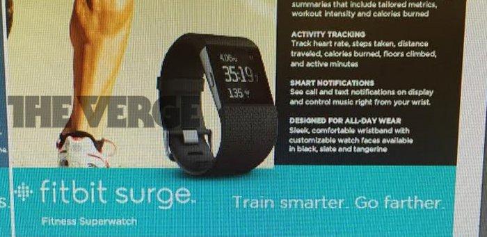 【外媒头条】fitbit surge 曝光,249 美元内置 GPS
