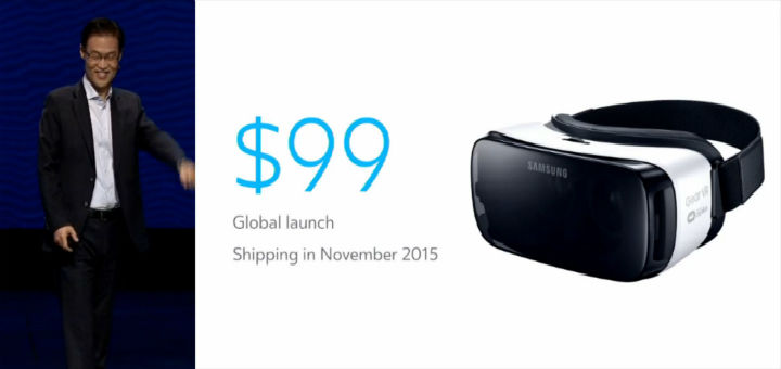 三星新一代GearVR十一月上市,定价99美元 | 极客早知道 2015 年 9 月 25 日