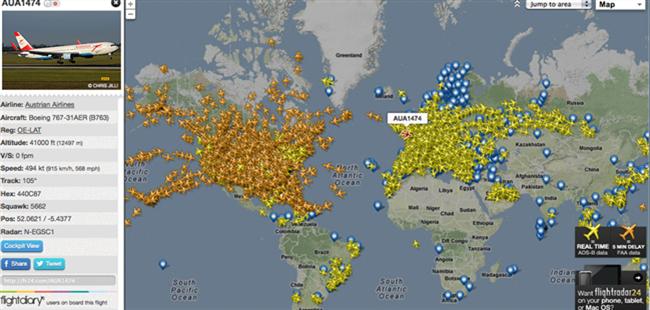 Flightradar 24:为全世界人民提供航空轨迹查询