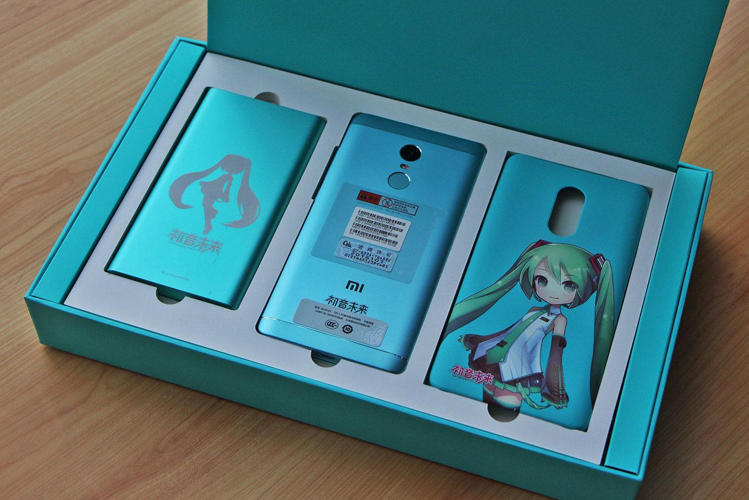 红米 Note 4X 初音未来限量套装来了,你喜欢吗